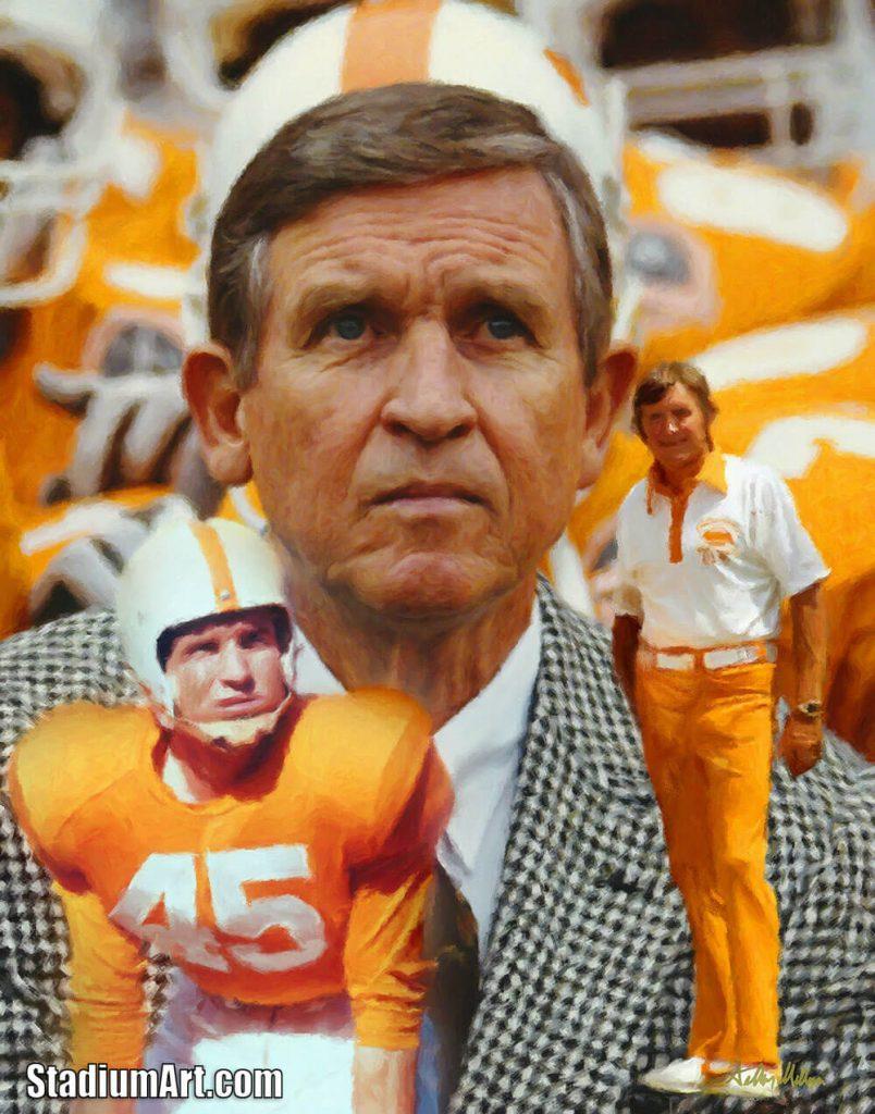 UT Vols Johnny Majors Tennessee Volunteers Coach NCAA College Football Art Print 2510