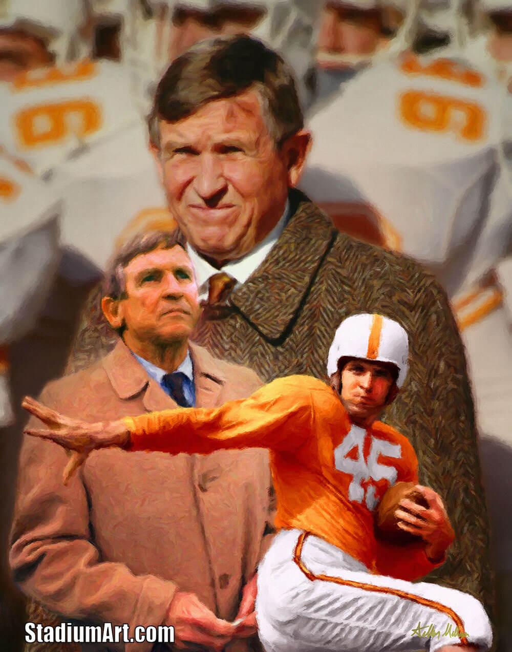 UT Vols Johnny Majors Tennessee Volunteers Coach NCAA College Football Art Print 2520
