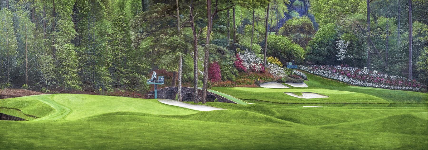 Augusta National Golf Holes 12 Golden Bell and 11 White Dogwood