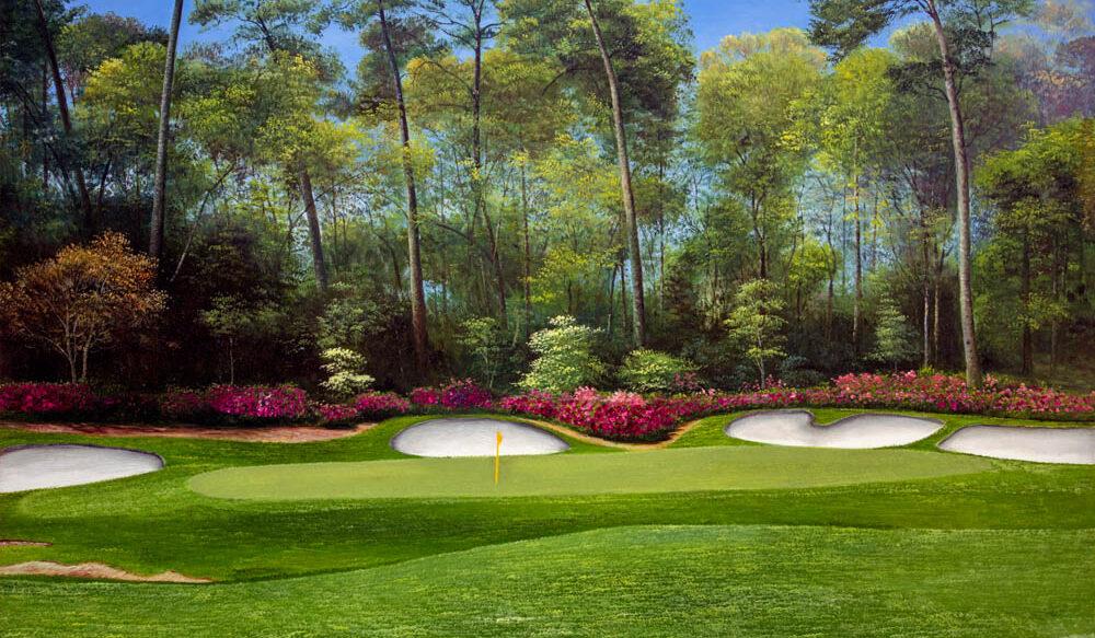 Augusta National Golf Hole 13 Azaleah 2560 art print